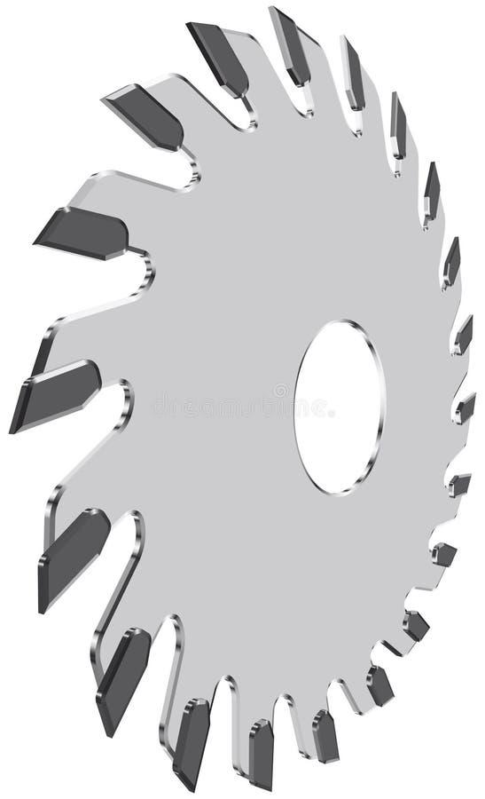 Лезвие круглой пилы иллюстрация вектора