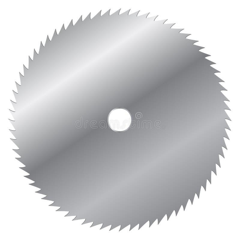 Лезвие пилы иллюстрация вектора