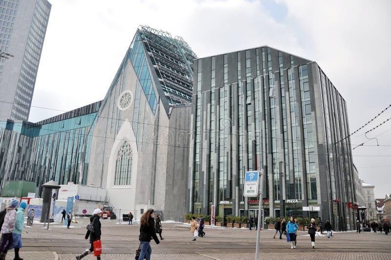 Новая Paulinum-Церковь университета Лейпциг стоковые фото