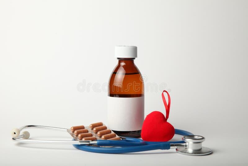 Лекарства для сердца, понижая кровяное давление Сердечно-сосудистые заболевания стоковое фото