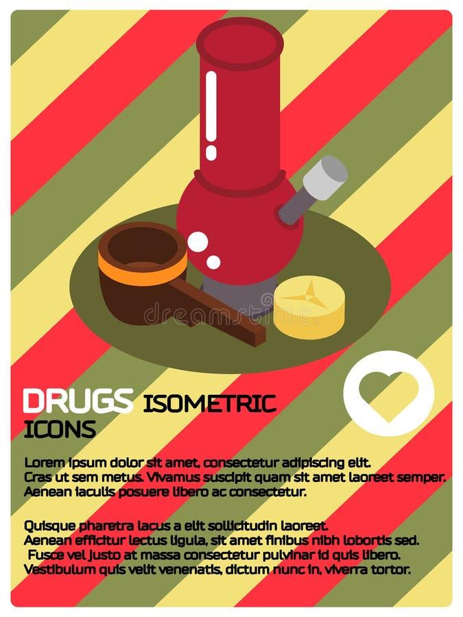 Лекарства красят равновеликий плакат иллюстрация вектора