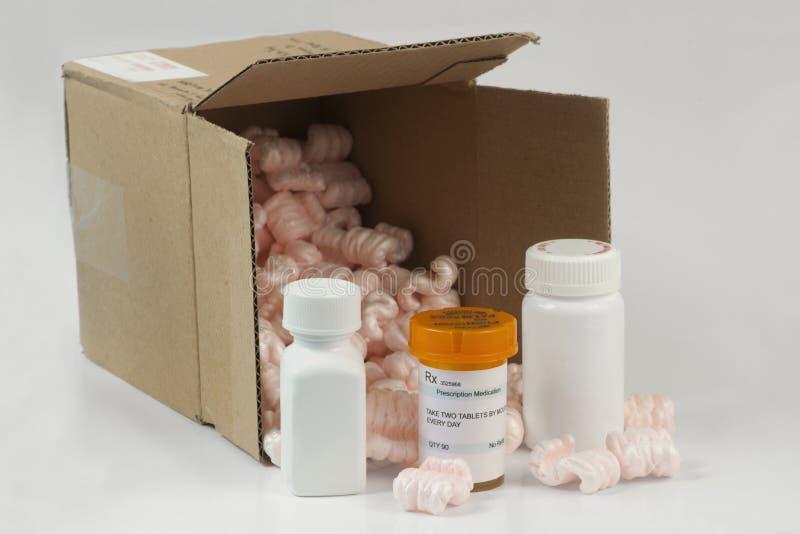 Лекарства почтового заказа стоковые фотографии rf