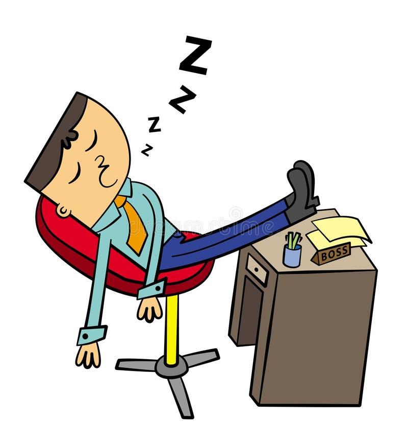 Ленивый босс бесплатная иллюстрация