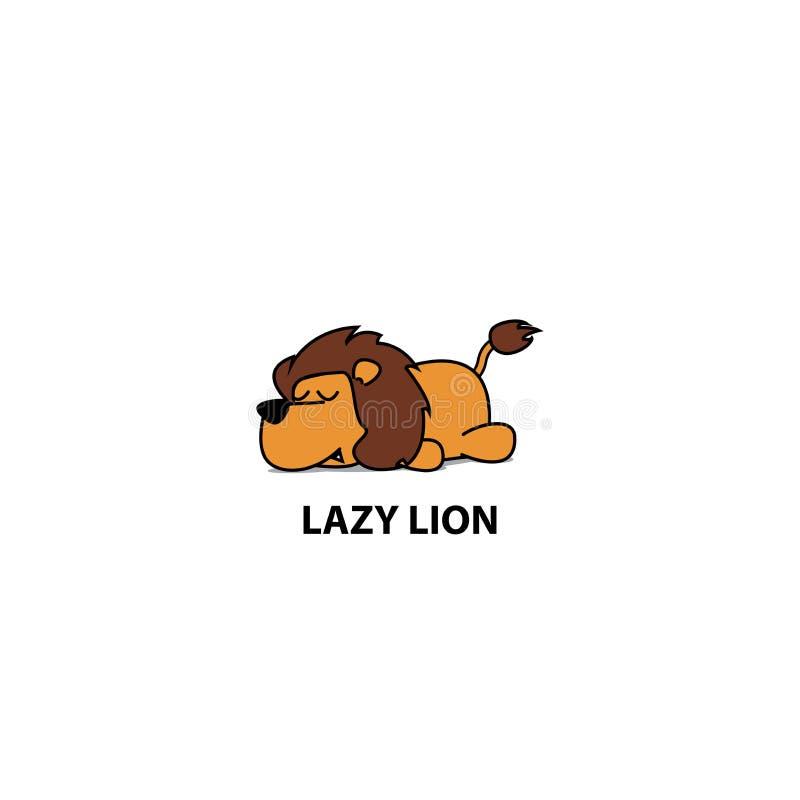 Ленивый значок льва, дизайн логотипа, иллюстрация вектора бесплатная иллюстрация