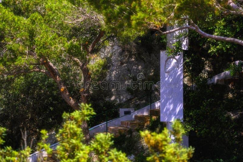 Ленин на Капри, памятник, назначения стоковая фотография