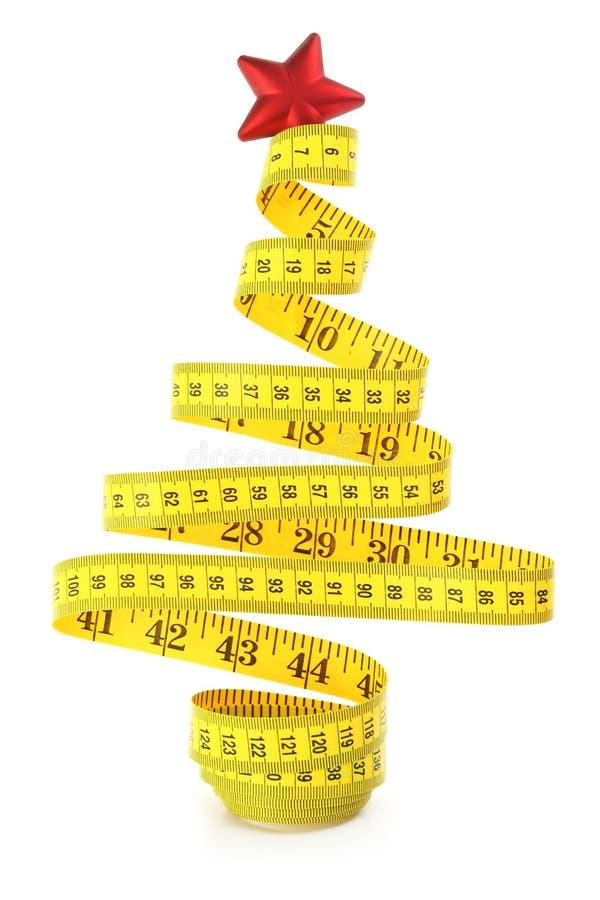 Лента измерения рождественской елки стоковые фото