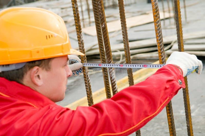 лента измерения строителя стоковое фото rf
