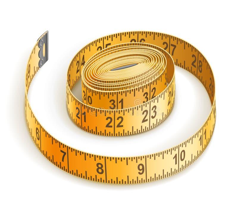 лента измерения иллюстрация штока
