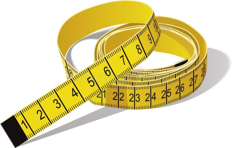 лента измерения иллюстрация вектора