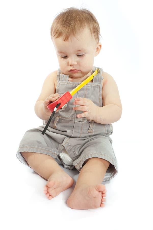 лента младенца измеряя стоковое изображение