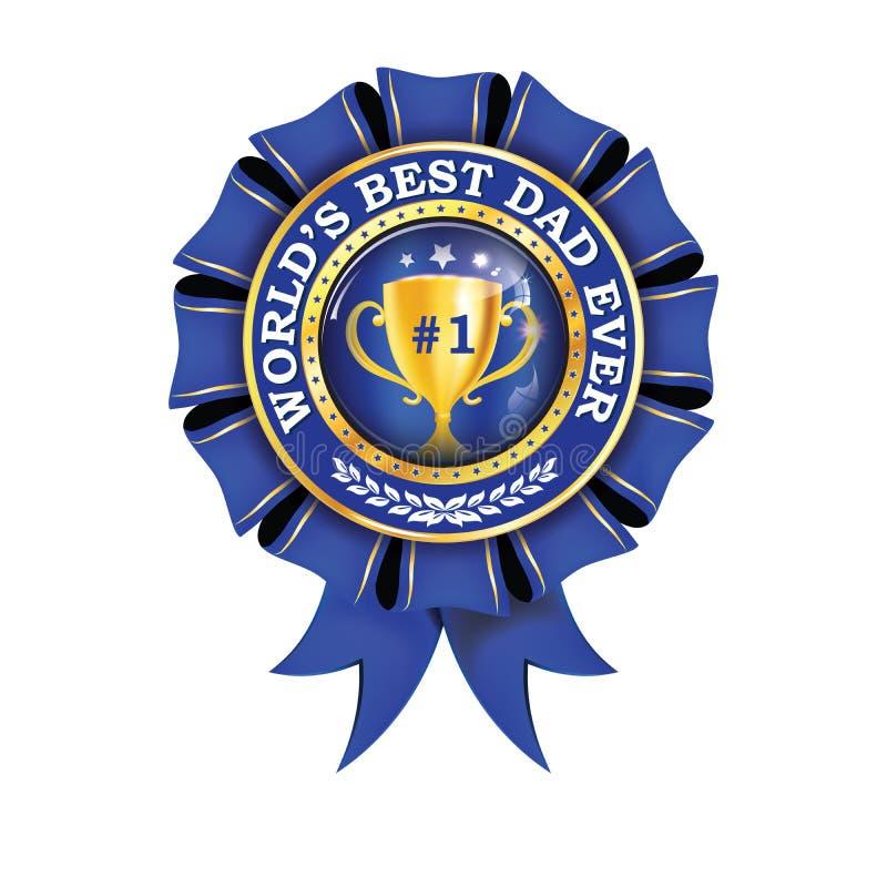 Лента награды самого лучшего папы ` s мира вечно- printable иллюстрация вектора