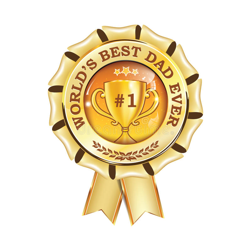 Лента награды самого лучшего папы ` s мира вечно- printable иллюстрация штока