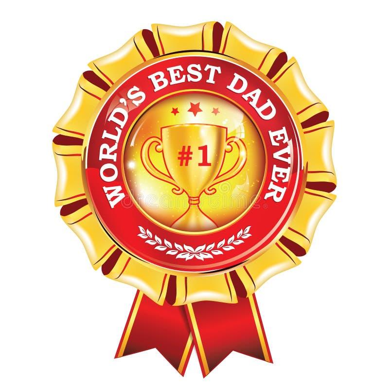 Лента награды самого лучшего папы ` s мира вечно- printable бесплатная иллюстрация
