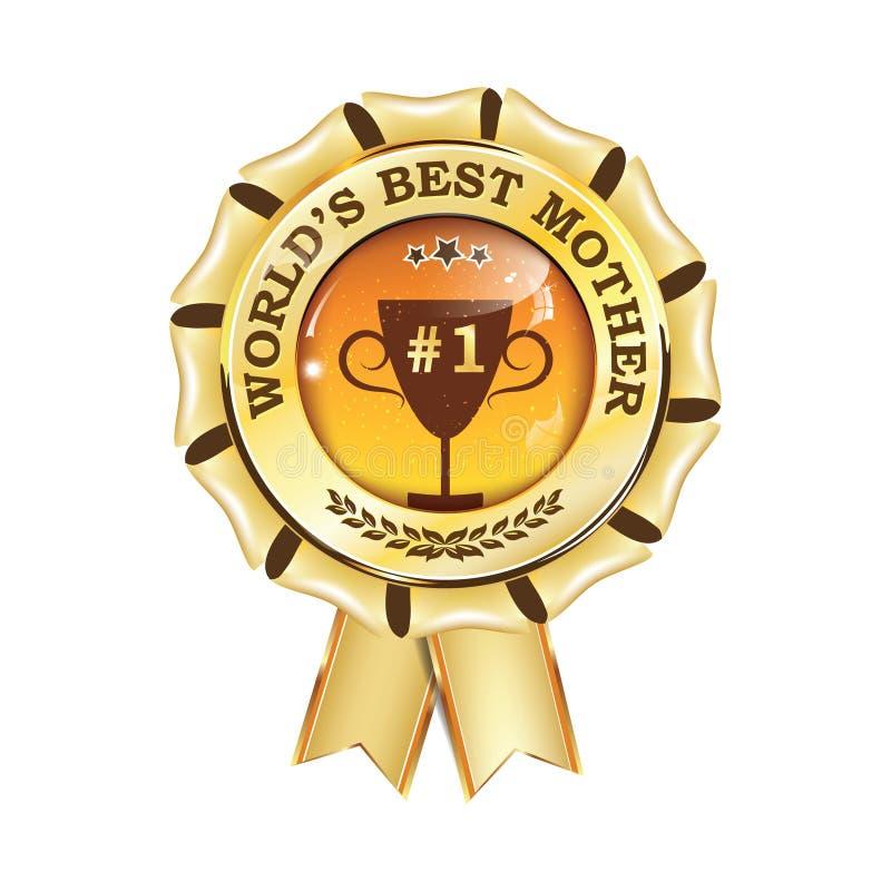 Лента награды самой лучшей матери ` s мира вечно- printable иллюстрация штока