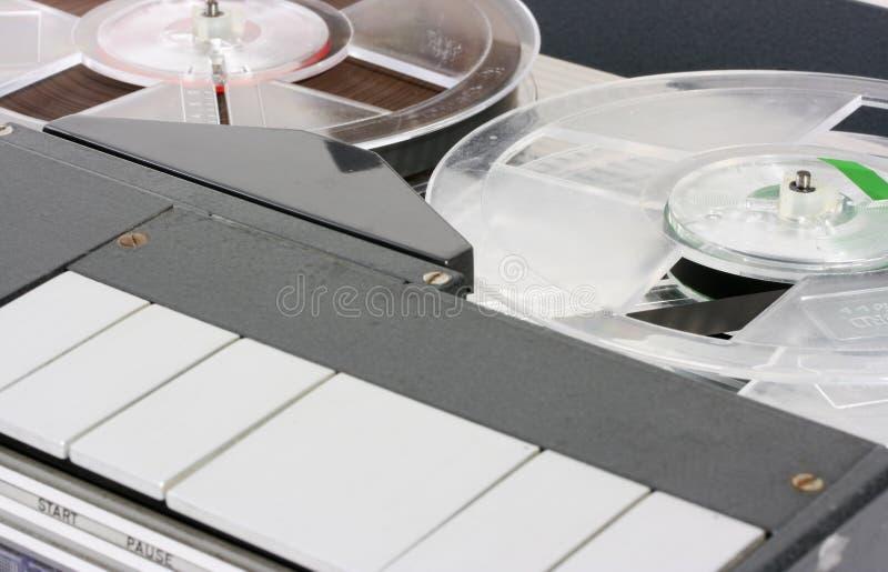 лента портативного рекордера макроса ретро стоковые изображения