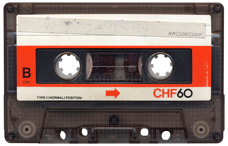 лента пустой кассеты ретро стоковые фото