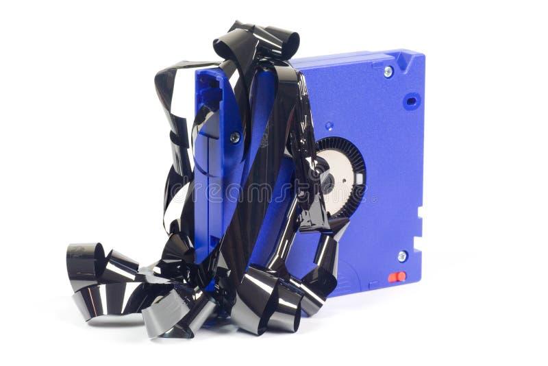 лента резервного компьютера поврежденная стоковые фотографии rf