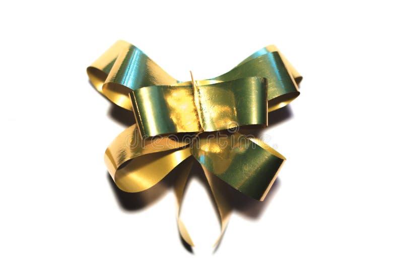 Лента связанная в смычке на подарок на рождество стоковые фотографии rf
