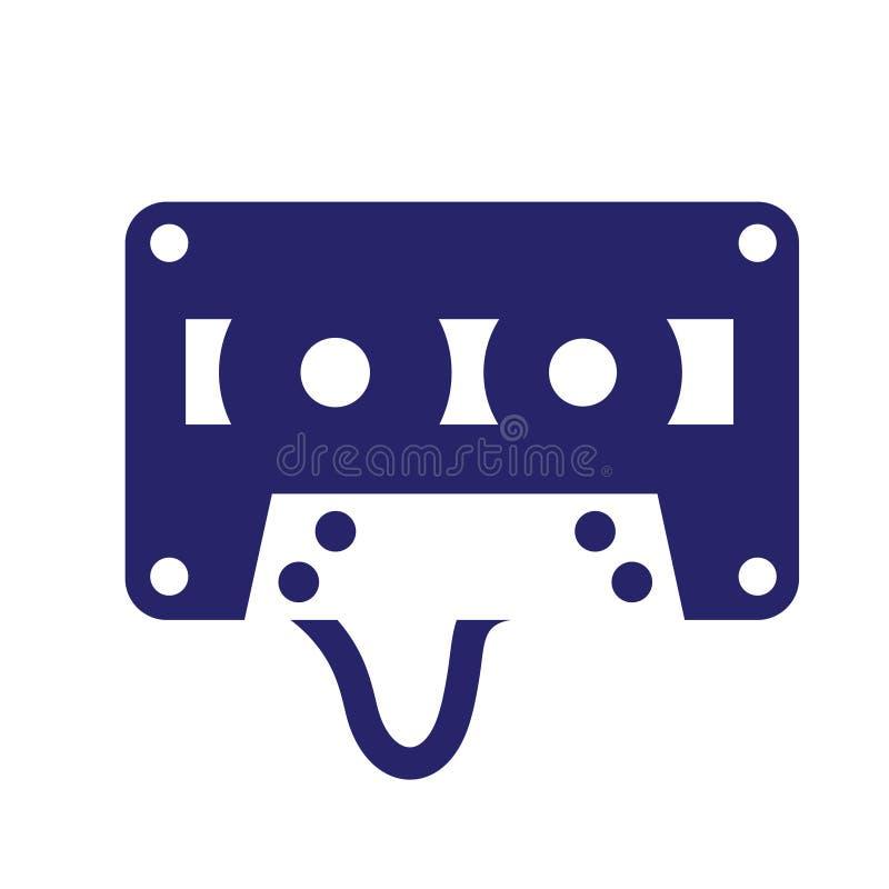 Ленточная кассета Импел Логотип Icon Векторная Iluстрация бесплатная иллюстрация