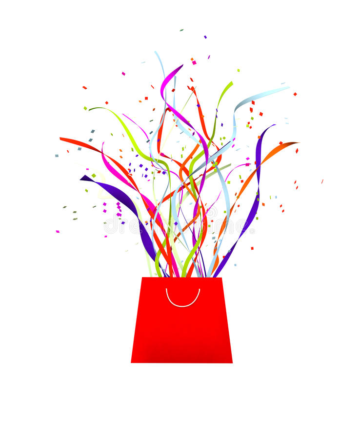 Download Ленты и ленты торжества партии приходя от сумки Иллюстрация штока - иллюстрации насчитывающей поздравления, вне: 40584034