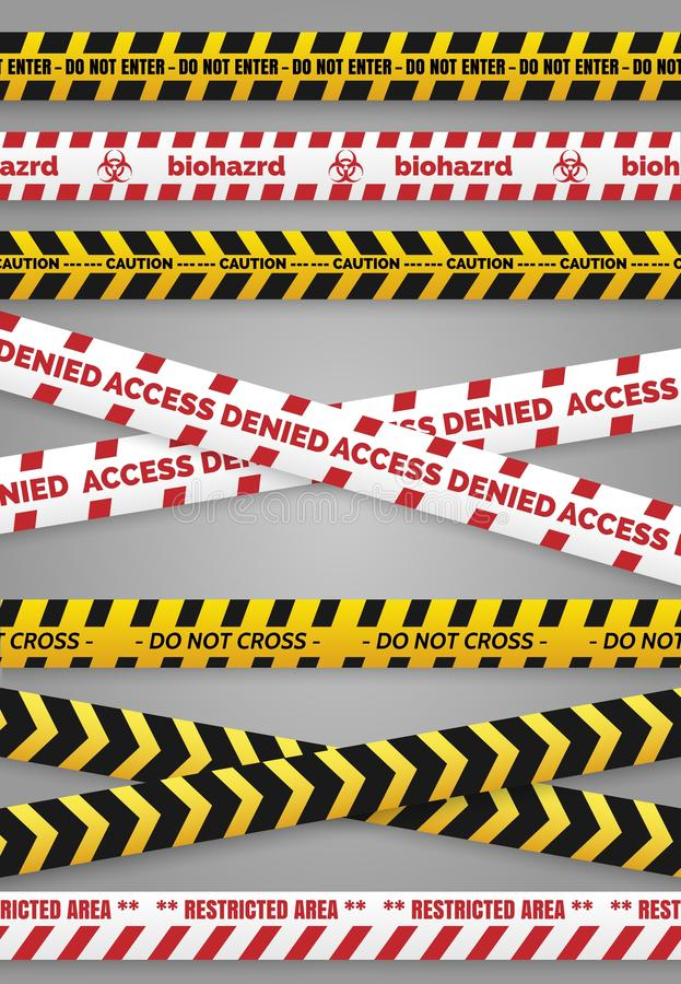 Ленты конструкции опасности иллюстрация штока