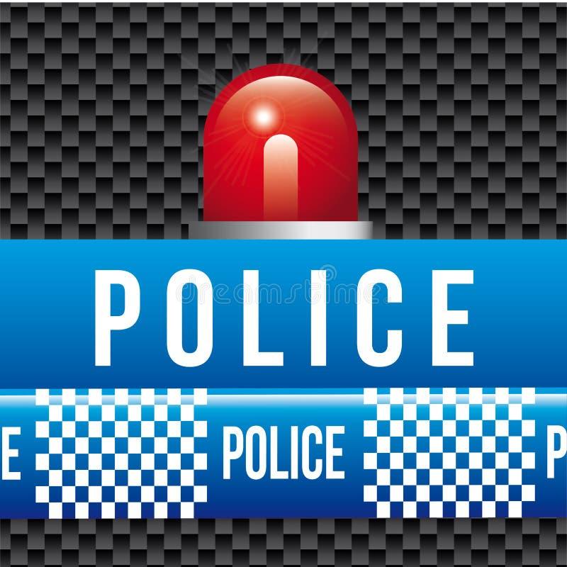 Ленты полиции иллюстрация штока