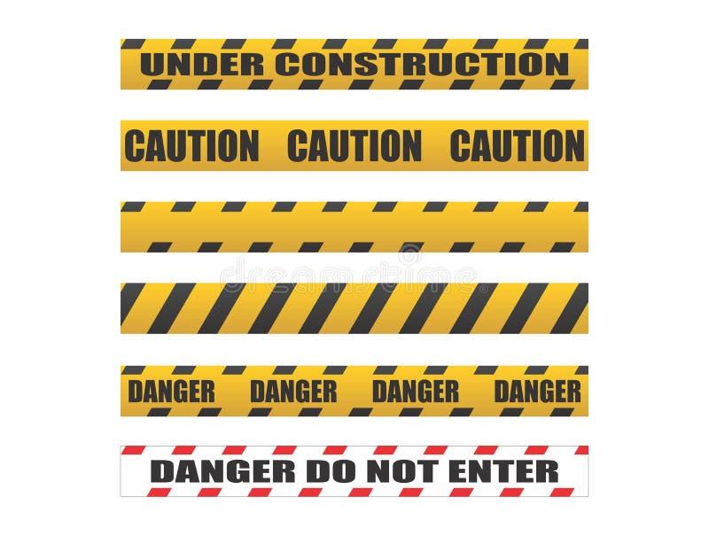 Ленты предосторежения, ленты опасности бесплатная иллюстрация