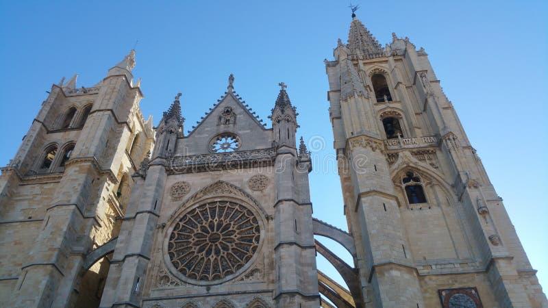Леон Catedral стоковая фотография rf