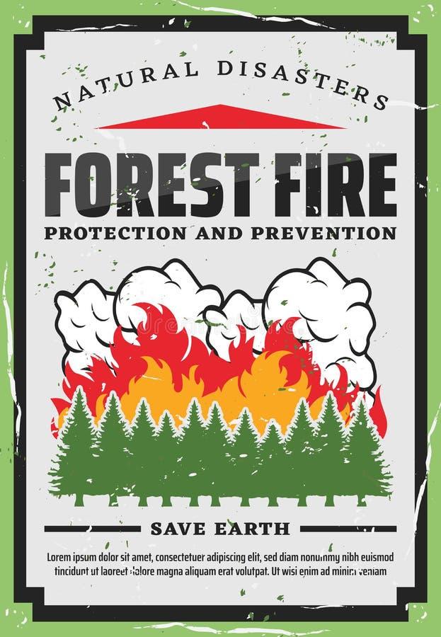 Лесные деревья противопожарные, предохранение от природы бесплатная иллюстрация