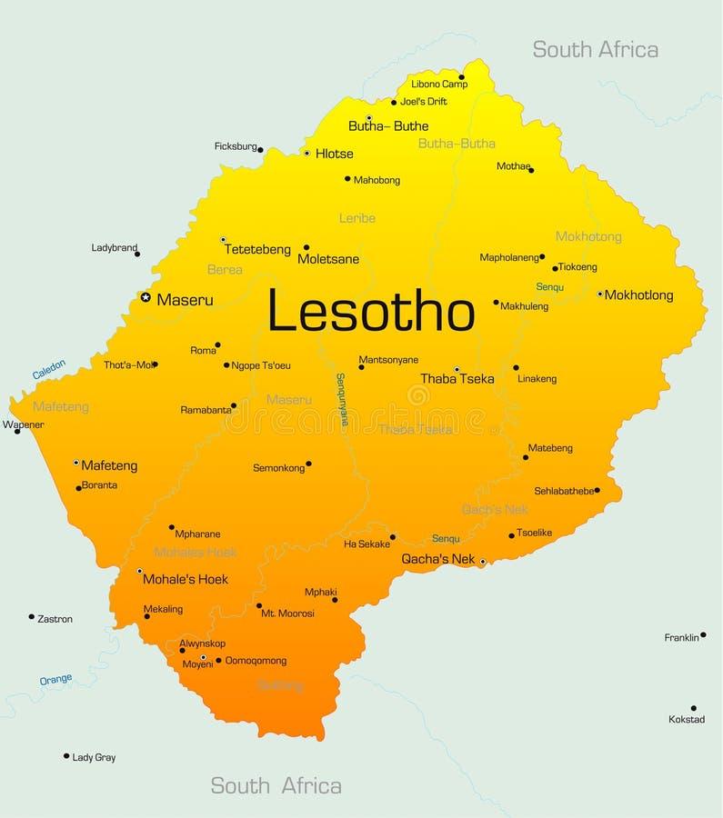 Лесото иллюстрация штока