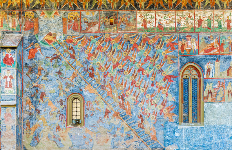 Лестница божественного восхождения Джона лестницы иллюстрация вектора