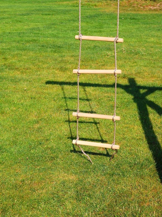 Лестница веревочки стоковая фотография