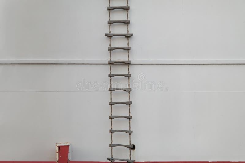 Лестница веревочки стоковое изображение