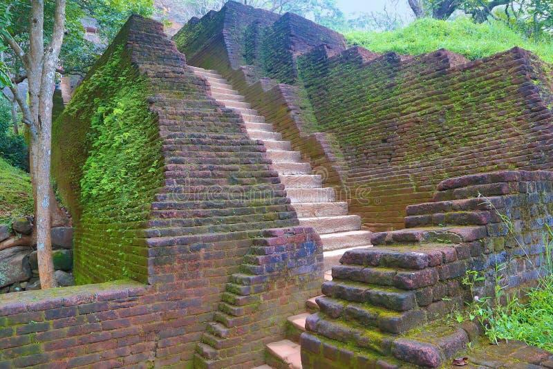 Лестница в замке льва Sigiriya стоковое фото