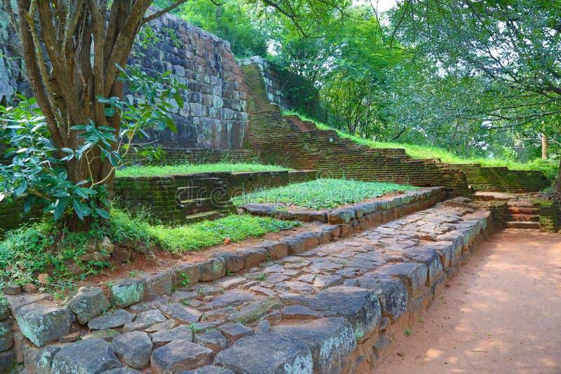 Лестница в замке льва Sigiriya стоковая фотография