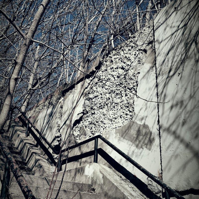 Лестница города стоковое изображение rf