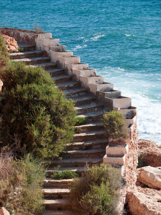Лестница концом океана вверх. стоковая фотография rf