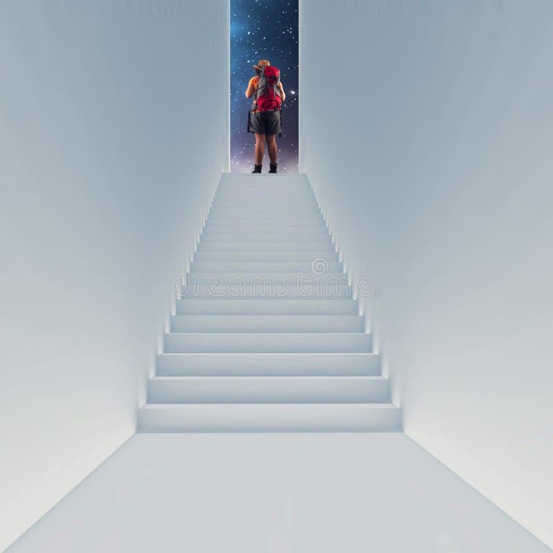 Лестница, который нужно разметить стоковые фото