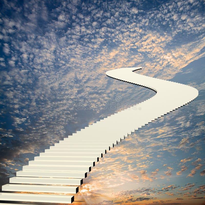 Лестница к небу стоковые фотографии rf
