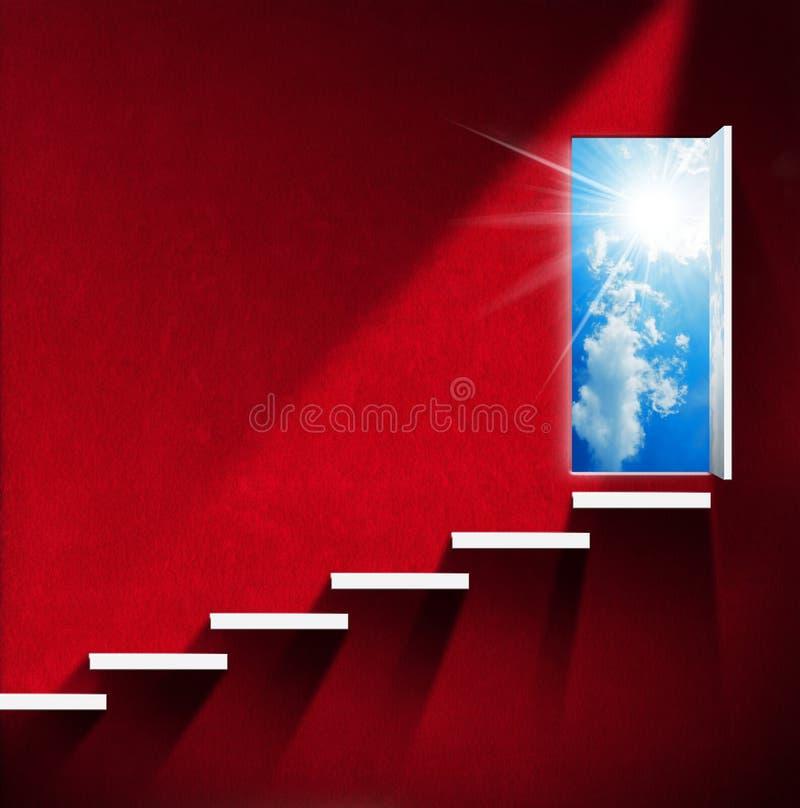 Лестница к раю - красной комнате бесплатная иллюстрация