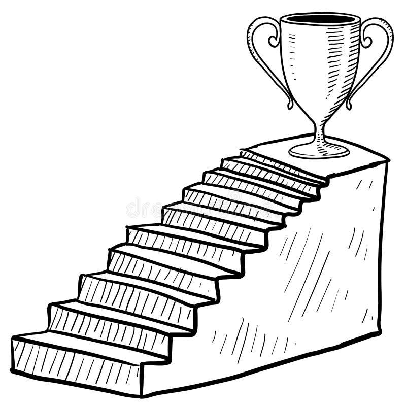 Лестница к эскизу победы бесплатная иллюстрация