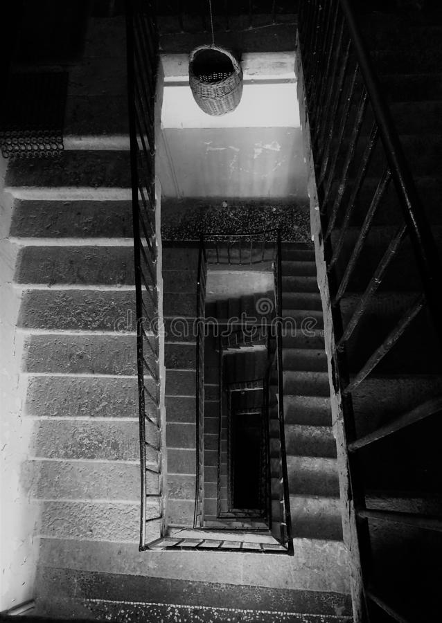 Лестница любит безграничность жизни стоковое изображение