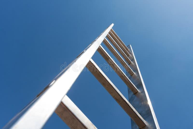 Лестница металла стоковые изображения rf