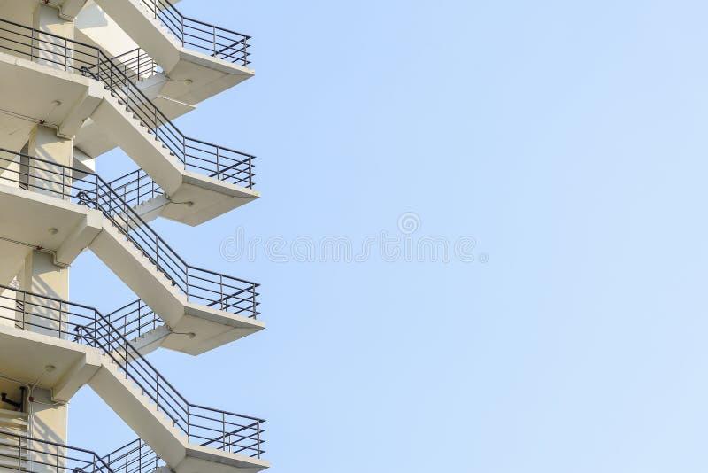 Лестница пожарной лестницы стоковое фото