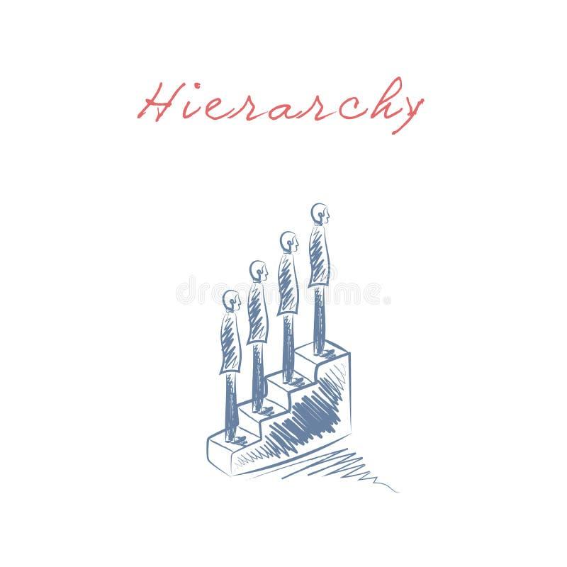 Лестница продвижения иерархии и карьеры дела корпоративная vector концепция иллюстрация вектора