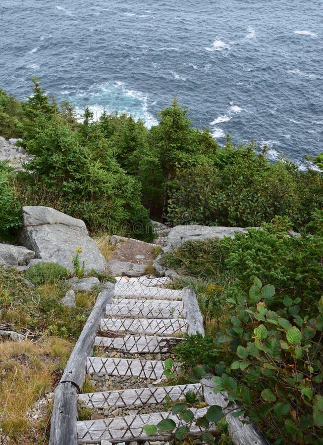 Лестница пути на открытом воздухе вдоль trai восточного побережья стоковое изображение rf