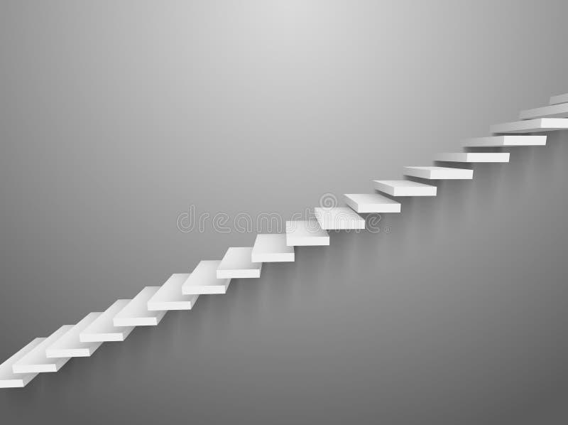лестница стены вектора лестницы 3d Абстрактный успех элемента шагов дизайна интерьера лестницы стены бесплатная иллюстрация