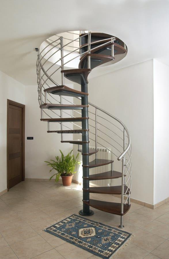 лестница улитки утюга стоковое изображение rf