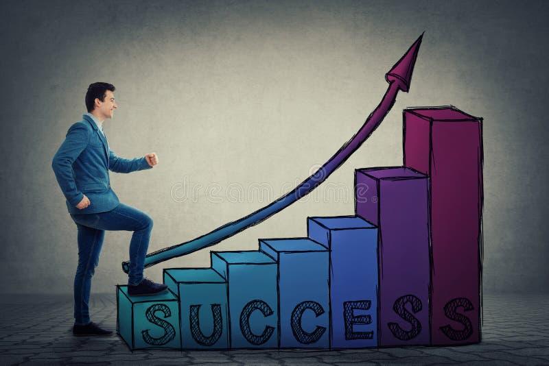 Лестница успеха карьеры стоковые изображения rf