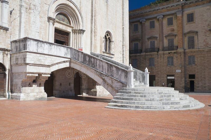 лестница umbria дворца gubbio консулов стоковое фото